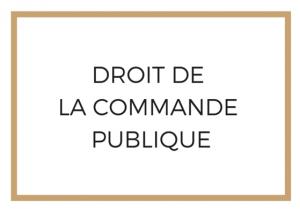 Droit de la Commande Publique Avocat Paris